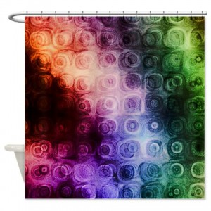 Magenta Abstract Art 20 Shower Curtain