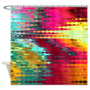 Magenta Abstract Art 23 Shower Curtain