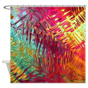 magenta abstract art 25 Shower Curtain
