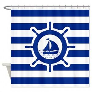 Nautical 17 Shower Curtain