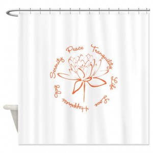 Lotus-Orange Shower Curtain