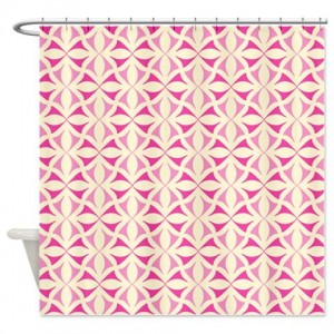 Pink and Beige Pattern 3 Shower Curtain