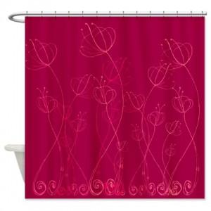 Poppy Doodle 10 Shower Curtain