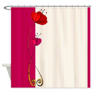 Poppy Doodle 4 Shower Curtain