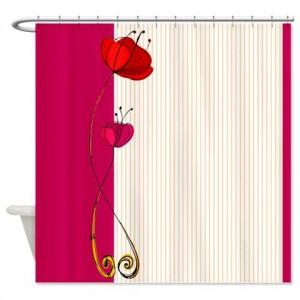 Poppy Doodle 4 Shower Curtain