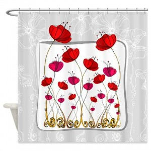Poppy Doodle 7 Shower Curtain