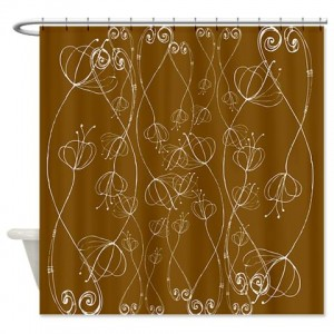 Poppy Doodle 8 Shower Curtain