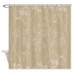 Poppy Doodle 9 Shower Curtain