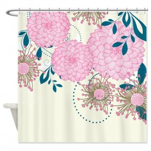 Pretty Asian-Inspired Mums 02 Shower Curtain