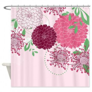 Pretty Asian-Inspired Mums 03a Shower Curtain