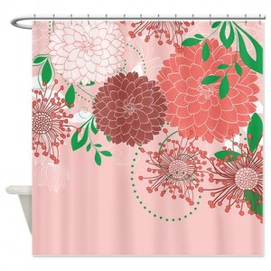 Pretty Asian-Inspired Mums 04a Shower Curtain