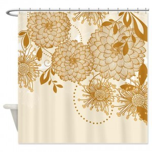 Pretty Asian-Inspired Mums 07a Shower Curtain