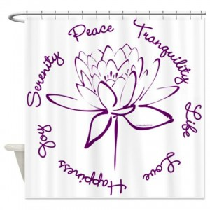 Lotus-Purple2 Shower Curtain