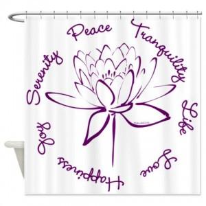 Lotus-Purple2 Shower Curtain
