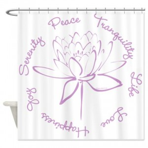 Lotus Serenity Purple Shower Curtain