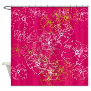 Rose Doodle 21 Shower Curtain