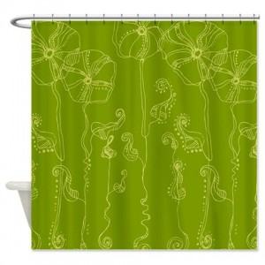 Rose Doodle 22 Shower Curtain