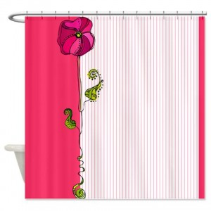 Rose Doodle 6 Shower Curtain