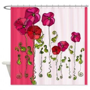 Rose Doodle 7 Shower Curtain