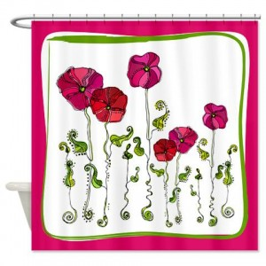 Rose Doodle 9 Shower Curtain