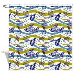 Sea creatures2 Shower Curtain