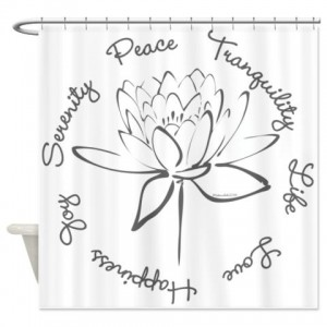 Lotus-Smoke Shower Curtain