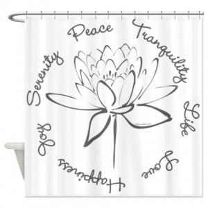Lotus-Smoke Shower Curtain