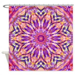 Tie-Dyed 8 Shower Curtain