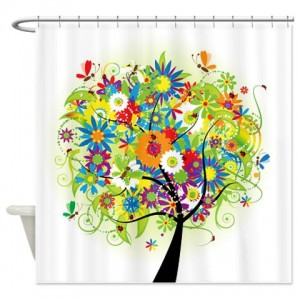 Tree Bright Spring Shower Curtain