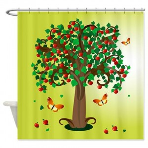 Tree Apple Shower Curtain