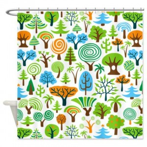 Tree Seamless1 Shower Curtain