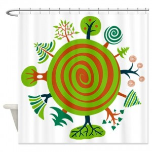Tree Seamless2 Shower Curtain