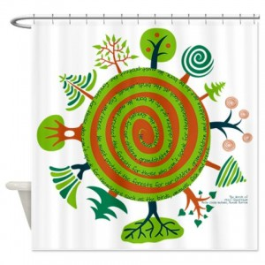 Tree Seamless2a Shower Curtain