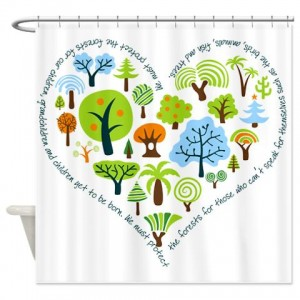 Tree Seamless3 01a Shower Curtain