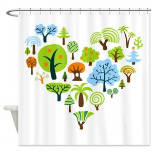 Tree Seamless31 Shower Curtain