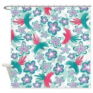 Tropical Birds Shower Curtain