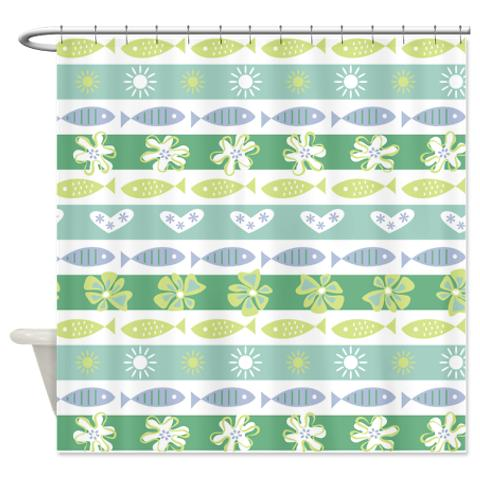 Tropical Fish 2 Shower Curtain
