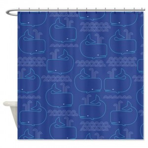 Whale Pattern 2 Shower Curtain