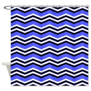 zigzag 2a blue Shower Curtain