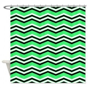 zigzag 2a green Shower Curtain