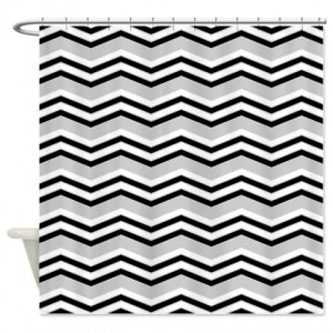 zigzag 2a grey Shower Curtain