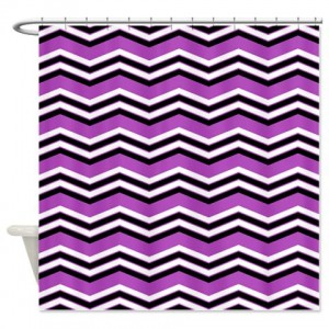 zigzag 2a purple Shower Curtain