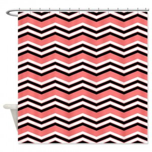 zigzag 2a salmon Shower Curtain