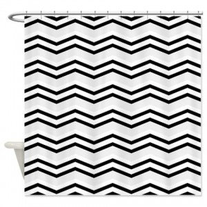 zigzag 2a silver Shower Curtain