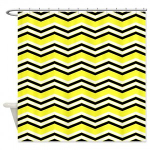 zigzag 2a yellow Shower Curtain