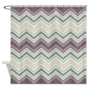 zigzag 31 Shower Curtain
