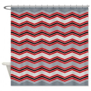 zigzag 33 Shower Curtain