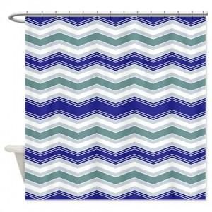 zigzag 34 Shower Curtain