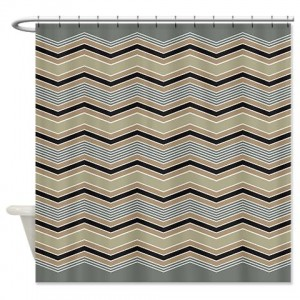 zigzag 36 Shower Curtain