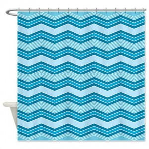 zigzag 37 Shower Curtain